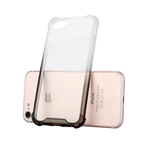 iPhone 7 / 8 Plus Coque Case , Mode [Crystal Clear] Transparent Ultra-mince Soft Poids Léger Silicone Doux TPU Étanche Aux Chocs Housse Gel Etui Case Cover pour Apple iPhone 7 / 8 Plus (Violet) Noir