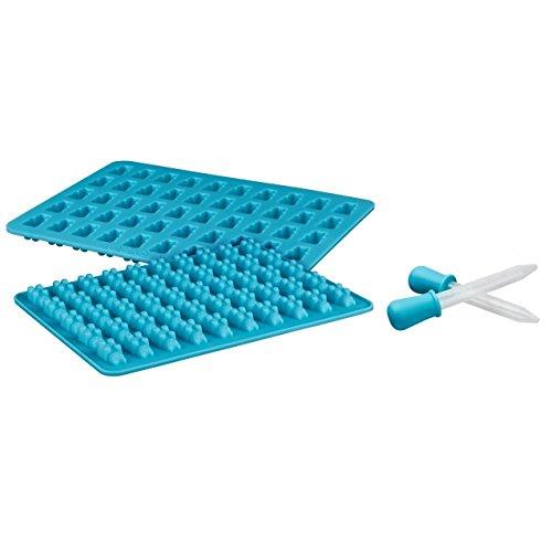 Silikon Gummibärchen-Formen mit Pipetten und Rezept