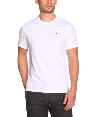 hilfiger-denim-mens-crew-neck-1-2-sleeve-t-shirt-white-weiss-100-classic-white-46-brand-size-s