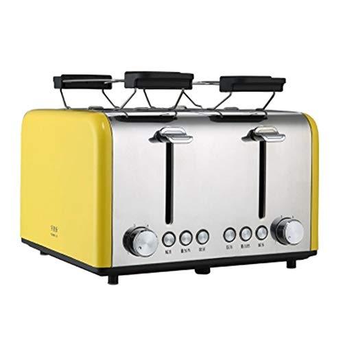 4-Scheiben-Toaster Frühstück Schnell Backen Rot Und Gelb