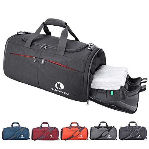 CANWAY Faltbare Sporttasche Faltbare Reisetasche mit dem schmutzigen Fach und Schuhfach Leichtgewicht für Männer und Frauen -