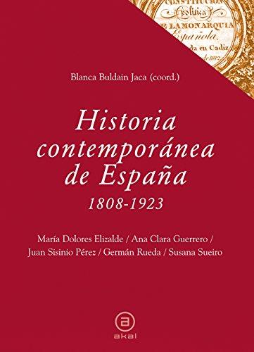 Historia contemporánea de España (1808-1923) (Textos)