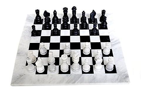 RADICALn Handmade White and Black Marble Full Chess Game Original