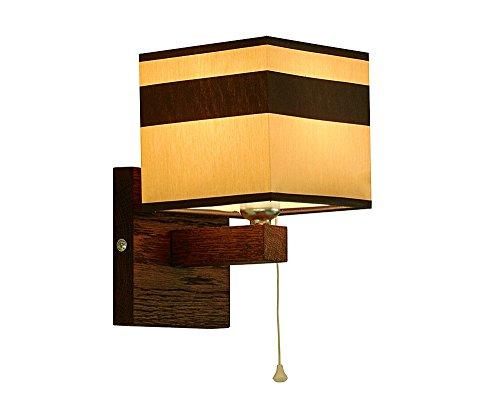 Wandlampe - Wero Design Vigo-024 A (CAPPUCCINO-SCHWARZ STREIFEN) - 16 Varianten, Wandleuchte, Leuchte, Lampe, Massivholz, Eiche, Eichenholz