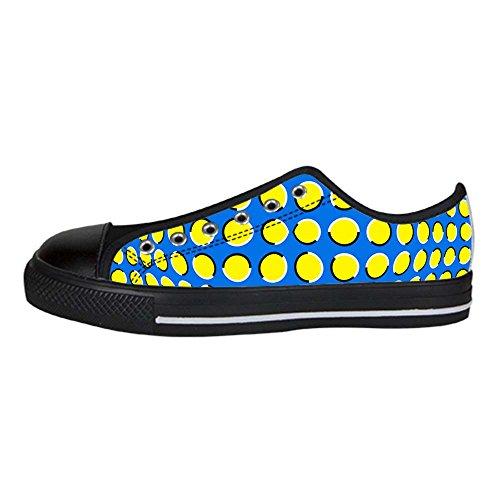 Dalliy des pois Men's Canvas Shoes Lace-up High-top Footwear Sneakers Chaussures de toile Baskets B