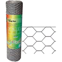PAPILLON 1172000 Enrejado Triple Torsion 13/100 cm, Rollo 10 m, Uso domestico, Metalizado, 102x9x9 cm