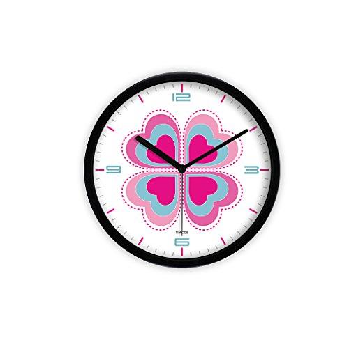 LQQGXL Kreative Uhr, Stille Wohnzimmer Kunst Uhr Hohe Auflösung Glas Spiegel Liebe Wanduhr Paar Wanduhr Dekoration Mute Wanduhr (Farbe : C) Auflösung Wanduhr