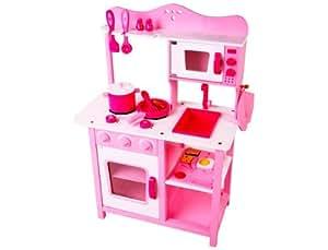 Wooden kitchen toy kids kitchen set cooking kitchen toys for Kitchen set toys amazon