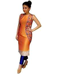 Missethnik Latest Bollywood Designer Hot Orange Koti Shimmer New Salwar Suit 808