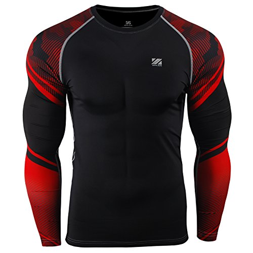 zipravs Herren Techfit Base Long Sleeve T-Shirt Funktionsunterwäsch(S~3XL) - Compression L/s Tee