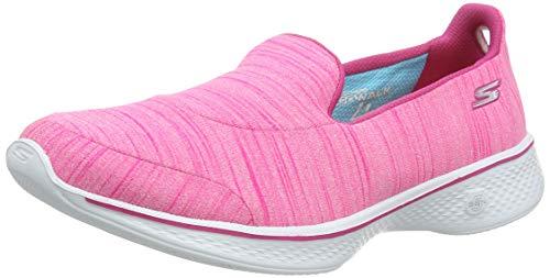 Skechers Damen Go Walk 4-Satisfy Laufschuhe, Pink (Hot Pink), 37 EU