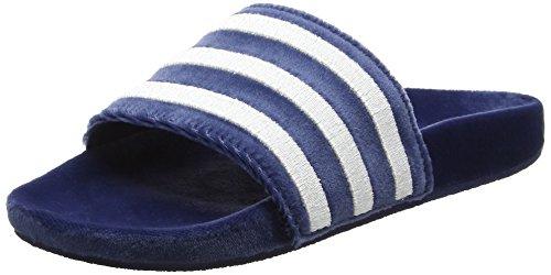 adidas Adilette, Herren Pantoffeln, Blau (Mystery Blue/footwear White/footwear White), 38 EU (5 UK)