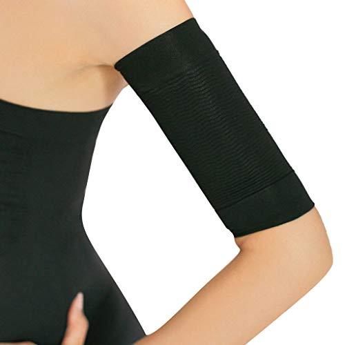 Bibao 2 Stück Kalorienabfall, schmaler Arm Shaper, Fettabbau, Massage, Fettverlierung, Zerkleinerungsgürtel für Frauen und Mädchen, 45G, Schwarz, 43453