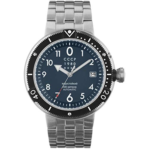CCCP Men's Kashalot Submarine 47mm Steel Bracelet Automatic Watch CP-7004-55