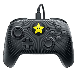 Faceoff Wired Pro Controller - Super Mario Star Edition (Nintendo Switch)