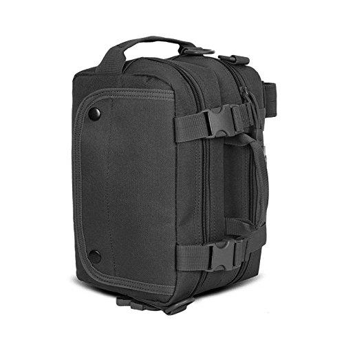 GOUQIN Outdoor Rucksack Klassische Mode Die Outdoor Single Schulter Eine Lineare Algebra Reiten Freizeit Und Sport Rucksack Tasche - Tasche Schwarz