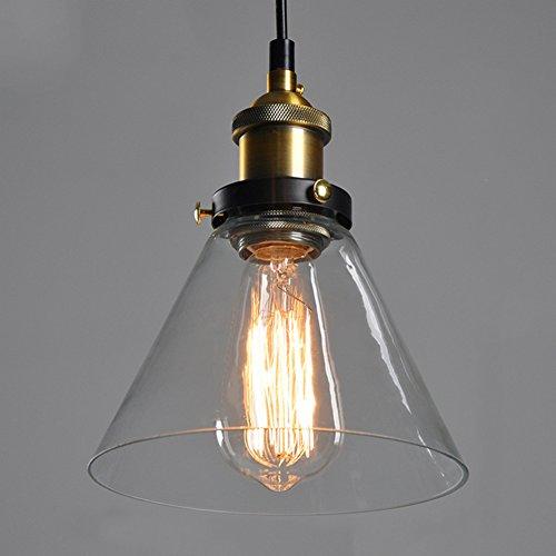 Verre Vintage industrielle Retro cordon de montage Ceiling Pendant Lampe Edison