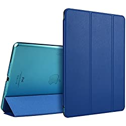 iPad Air Case, ESR Ultra Slim Case Cover PU Leather with Magnetic Auto Wake & Sleep Function Lightweight Stand for iPad Air / iPad 5 Case (Navy Blue)