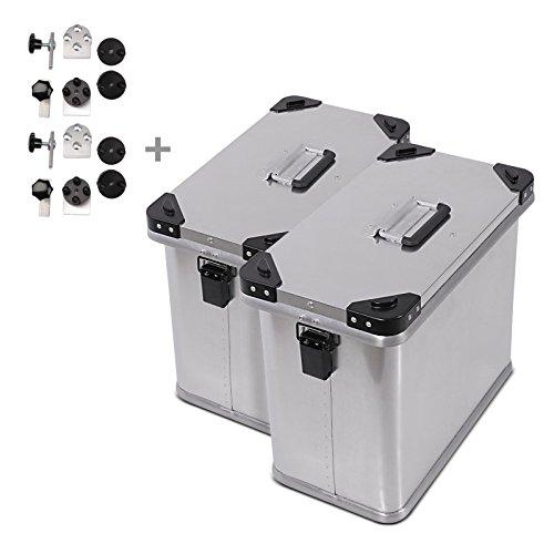 Alu Seitenkoffer Set Gobi 34l mit Adapter für 18mm Kofferträger Paar für BMW F 850/800 GS/Adventure