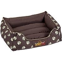 Hobbydog Cama de lujo para perro, color marrón con patas beige