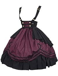 97fa12a2e9 Mujer Falda Retro Lolita Falda Corta Cintura Alta Ajustable Correa Falda de  Verano Gótico Traje de