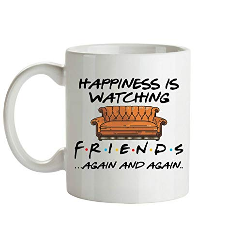 PORCN beer mugs Whitelf TV shows friends mugs Travel Beer mug Porcelain coffee mug Tea mug with a stirring spoon, A