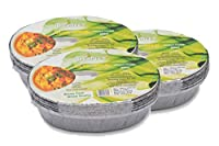 Freshee Pack of 3 x 10 pcs Aluminium Silver Foil Container 600ml| 100% Recyclable Food Storage Disposable Containers with Lid For Kitchen | Bacteria Resistant
