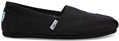 TOMS Women's Canvas Slip-On,Black On Black,8.5 M (Canvas Slip Schuhe Toms)