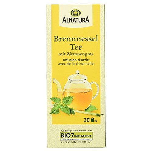 Alnatura Bio Brennnesseltee mit Zitronengras, 20 Beutel, 6er Pack (6 x 30 g)