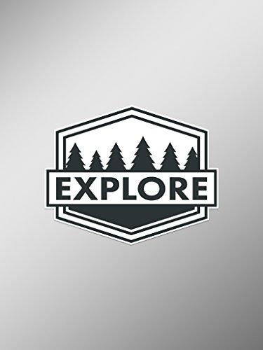Explore Wanderlust Vinyl Aufkleber Aufkleber (Zwei Pack) | Autos Trucks Vans Windows Wände Laptop Cups | Bedrucktes | 2-4Aufkleber | kcd1458 (Wand-berg-cup)
