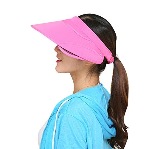 Amorar Weiblich Sommer Topless Versenkbare Visor Hut Sun Leere Top Cap UV Beach Sun Hüte für Sport Reiten Aktivitäten,EINWEG Verpackung