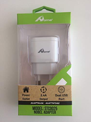 Home - Cargador de pared con 2 puertos USB (4,8 A) (white)