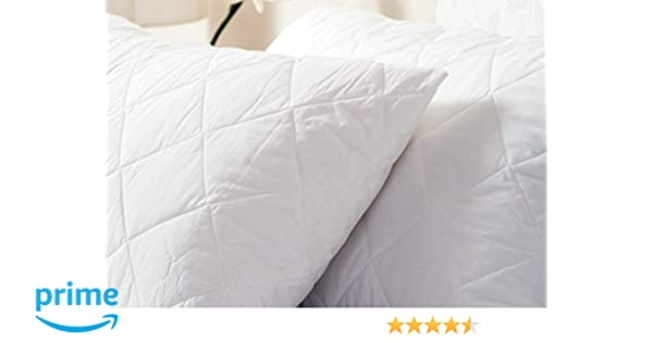 Large, White Belledorm Quilted Pillow Protector Anti-Allergy Protection 100/% Cotton Percale Surface