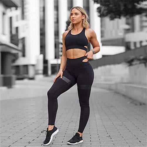 happygirr Bekleidung Yoga Set, Frauen Yoga Sets Gym Elastische Running Sport Anzug Fitness Kleidung Training Sport Tragen Sport Bra + Pant
