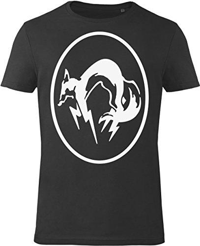 GOZOO Metal Gear Solid T-shirt Uomo MGS FOX Black/White 100% Cotone, Stampa di Alta Qualitá Nero L