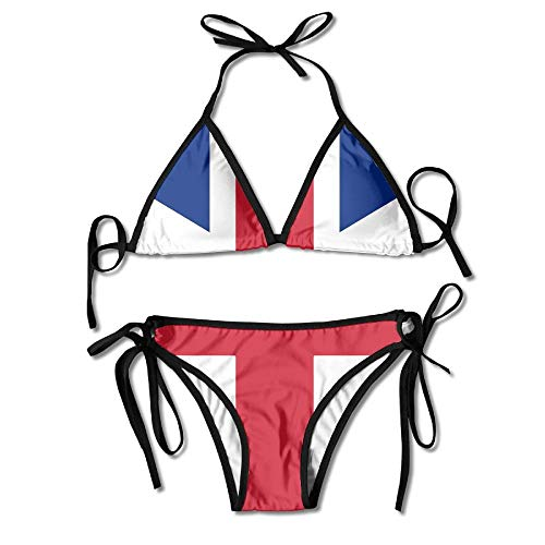 c5d355f1c The National Flag of Norway Hurts Women's Tie Side Bottom Bikini Suits Two Pieces  Swimwear