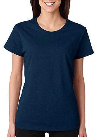 Gildan Women's Heavy Crewneck Cap Sleeve T-Shirt, XXX-Large, Navy by Gildan