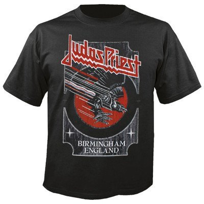 JUDAS PRIEST - Silver and red vengeance T-Shirt (M) (T-shirt Blast Off)