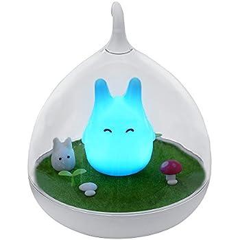 Songmics Lampe de Nuit Chevet Veilleuse rechargeable LED Touche Détecteur FSL02