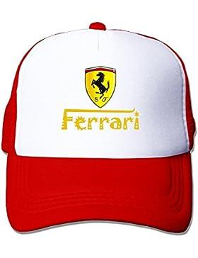 maneg Ferrari Team Funny Trucker gorro talla única de malla con tapas