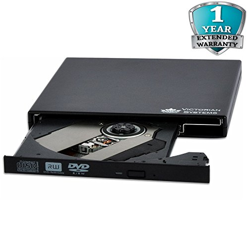 External DVD Drive USB 2.0 Slim Portable DVD RW CD RW DVD ROM CD ROM CD DVD Burner Writer Rewriter Copier Reader CD DVD Re writer Optical DVD Drive for All Laptops Note book Desktop PC MAC Windows 10 - Victorian Systems® Test