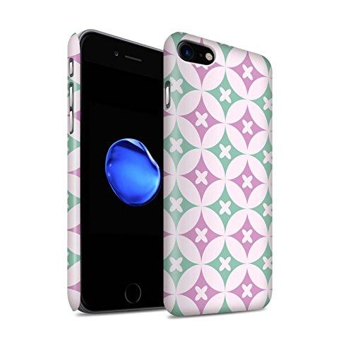 STUFF4 Matte Snap-On Hülle / Case für Apple iPhone 8 / Rot / Blau Muster / Kaleidoskop Kollektion Pink / Grün