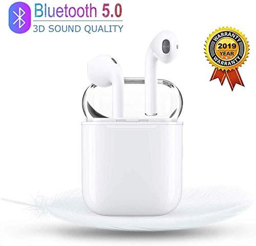 Auricolare Bluetooth, Cuffie wireless Auricolari In-Ear Caricabatterie impermeabile per sport 3D stereo e microfono incorporato,...