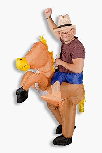 Aufblasbares Kostüm Cowboy Reiter Karneval Junggesellenabschied Verkleidung (Cowboy Kostüm Mit Pferd)