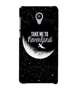 Takkloo take me to neverland ( half moon, kid flying in sky, twinkling stars, Black Background) Printed Designer Back Case Cover for Meizu M2 Note :: Meizu Note 2