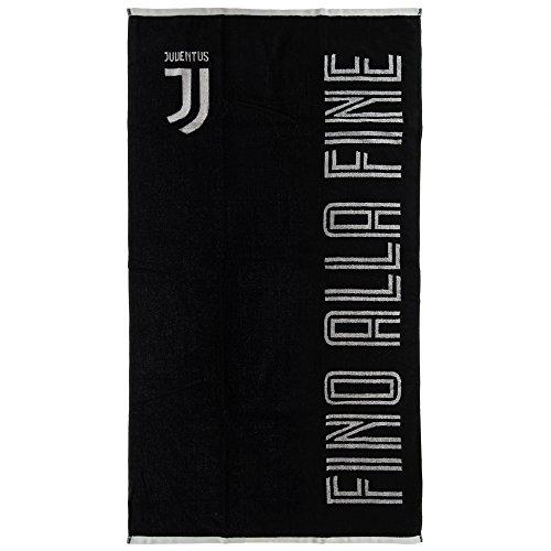 Asciugamano ufficiale f.c. juventus nuovo logo telo mare juve spugna double 400gr/mq 70x135cm