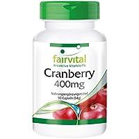Preisvergleich für Cranberry 400mg - für 1 Monat - VEGAN - HOCHDOSIERT - 90 Kapseln - Reinsubstanz ohne Zusatzstoffe