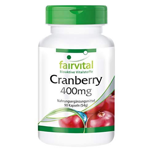 Cranberry Kapseln 400mg - HOCHDOSIERT - VEGAN - 90 Kapseln