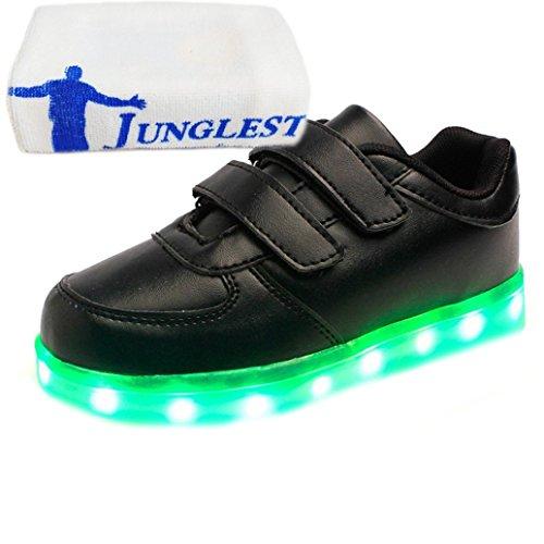 da1942ee8ab4f8 Present Leuchtend Freizeitschuhe Handtuch JUNGLEST® Aufladen Paare LED lauf  Sport kleines Kinderschuhe Schwarz Leucht 7 schuhe ...