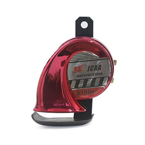 Preisvergleich Produktbild sourcingmap® Universal Motorrad Boot LKW rot Schnecke Stil Sirene elektrisch Horn 510Hz 110dB